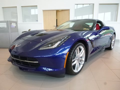 Admiral Blue Metallic Chevrolet Corvette Stingray Coupe.  Click to enlarge.