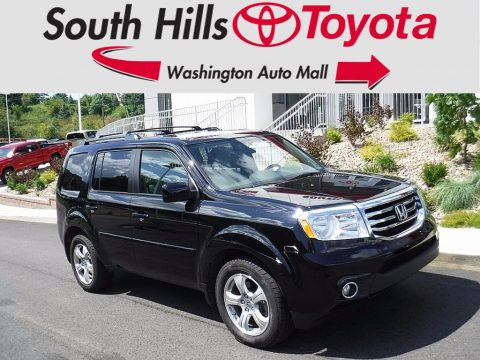 Crystal Black Pearl Honda Pilot EX 4WD.  Click to enlarge.