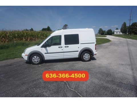 Frozen White Ford Transit Connect XLT Cargo Van.  Click to enlarge.