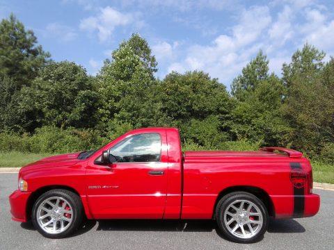 Flame Red Dodge Ram 1500 SRT-10 Regular Cab.  Click to enlarge.
