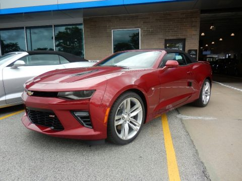 Garnet Red Tintcoat Chevrolet Camaro SS Convertible.  Click to enlarge.