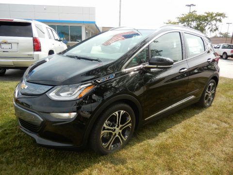 Mosaic Black Metallic Chevrolet Bolt EV Premier.  Click to enlarge.
