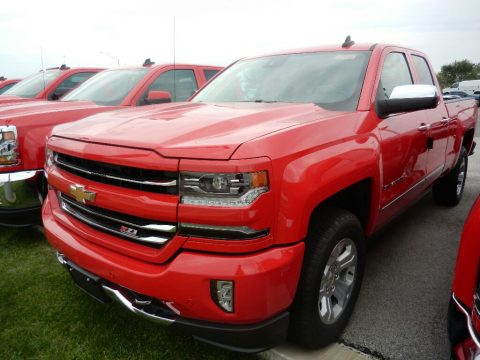 Red Hot Chevrolet Silverado 1500 LTZ Double Cab 4x4.  Click to enlarge.