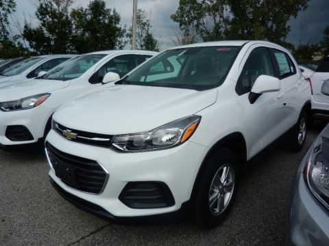 Summit White Chevrolet Trax LS AWD.  Click to enlarge.