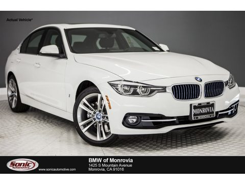 Alpine White BMW 3 Series 330e iPerformance Sedan.  Click to enlarge.