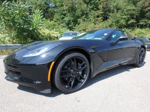 Black Chevrolet Corvette Stingray Coupe.  Click to enlarge.