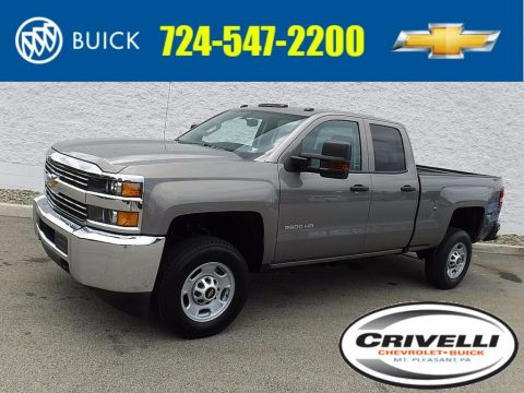Pepperdust Metallic Chevrolet Silverado 2500HD Work Truck Double Cab 4x4.  Click to enlarge.