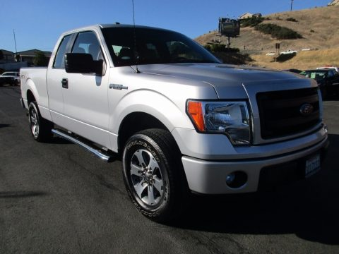 Ingot Silver Ford F150 STX SuperCab 4x4.  Click to enlarge.