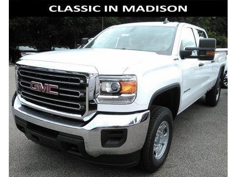 Summit White GMC Sierra 2500HD Crew Cab 4x4.  Click to enlarge.