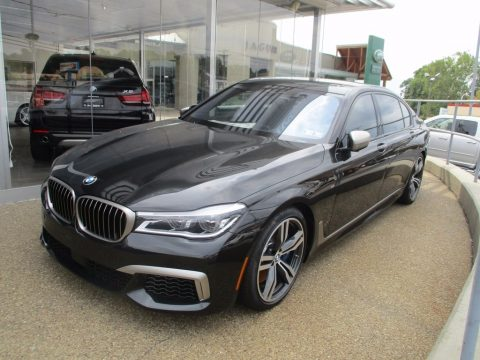 Black Sapphire Metallic BMW 7 Series M760i xDrive Sedan.  Click to enlarge.