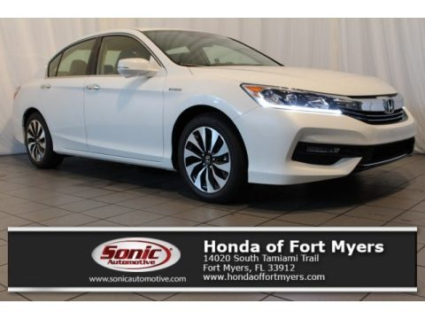 White Orchid Pearl Honda Accord Hybrid EX-L Sedan.  Click to enlarge.