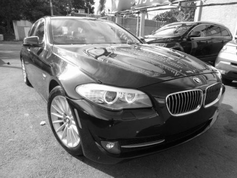 Carbon Black Metallic BMW 5 Series 535i xDrive Sedan.  Click to enlarge.