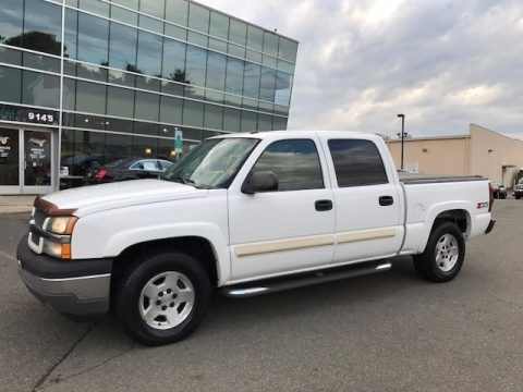 Summit White Chevrolet Silverado 1500 Z71 Crew Cab 4x4.  Click to enlarge.