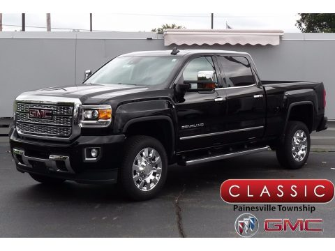 Onyx Black GMC Sierra 2500HD Denali Crew Cab 4x4.  Click to enlarge.