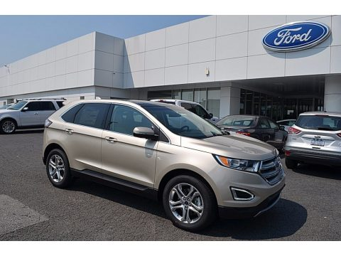 White Gold Metallic Ford Edge Titanium AWD.  Click to enlarge.
