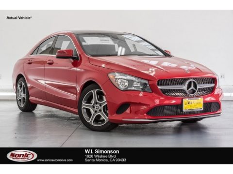 Jupiter Red Mercedes-Benz CLA 250 Coupe.  Click to enlarge.