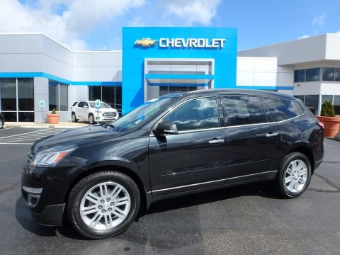 Black Granite Metallic Chevrolet Traverse LT AWD.  Click to enlarge.