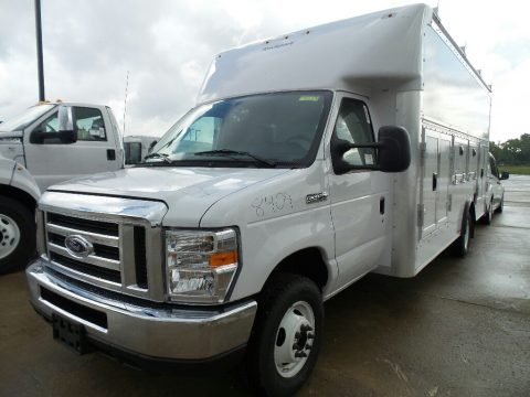 Oxford White Ford E Series Cutaway E450 Cutaway Commercial.  Click to enlarge.