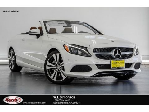 designo Diamond White Metallic Mercedes-Benz C 300 Cabriolet.  Click to enlarge.