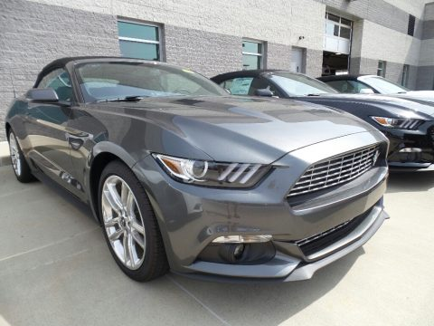 Magnetic Ford Mustang EcoBoost Premium Convertible.  Click to enlarge.
