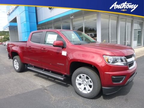 Cajun Red Tintcoat Chevrolet Colorado LT Crew Cab 4x4.  Click to enlarge.