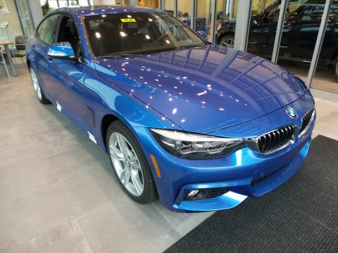Estoril Blue Metallic BMW 4 Series 440i xDrive Gran Coupe.  Click to enlarge.