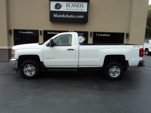 Summit White Chevrolet Silverado 2500HD WT Regular Cab 4x4.  Click to enlarge.