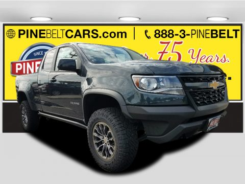 Graphite Metallic Chevrolet Colorado ZR2 Extended Cab 4x4.  Click to enlarge.