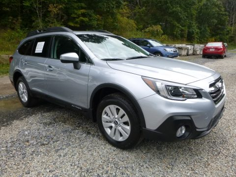 Ice Silver Metallic Subaru Outback 2.5i Premium.  Click to enlarge.