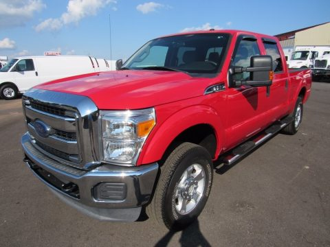 Ruby Red Metallic Ford F250 Super Duty XLT Crew Cab 4x4.  Click to enlarge.