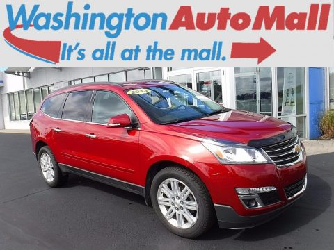 Crystal Red Tintcoat Chevrolet Traverse LT AWD.  Click to enlarge.