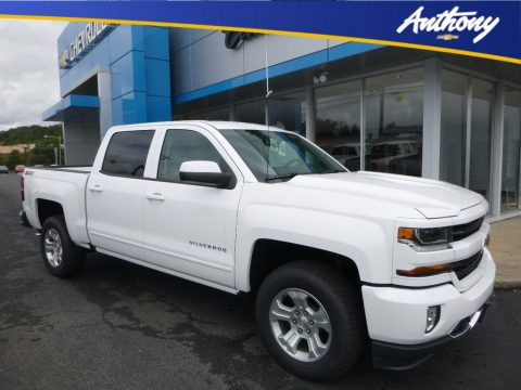 Summit White Chevrolet Silverado 1500 LT Crew Cab 4x4.  Click to enlarge.