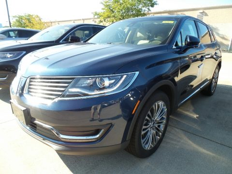 Midnight Sapphire Blue Lincoln MKX Reserve AWD.  Click to enlarge.