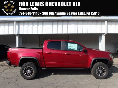 Cajun Red Tintcoat Chevrolet Colorado ZR2 Extended Cab 4x4.  Click to enlarge.