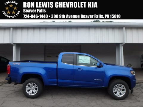 Kinetic Blue Metallic Chevrolet Colorado LT Extended Cab 4x4.  Click to enlarge.