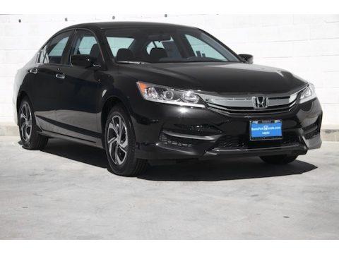 Crystal Black Pearl Honda Accord LX Sedan.  Click to enlarge.