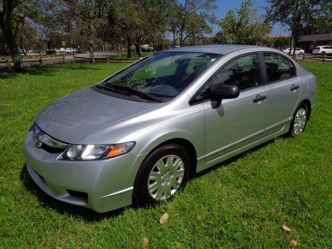 Alabaster Silver Metallic Honda Civic DX-VP Sedan.  Click to enlarge.