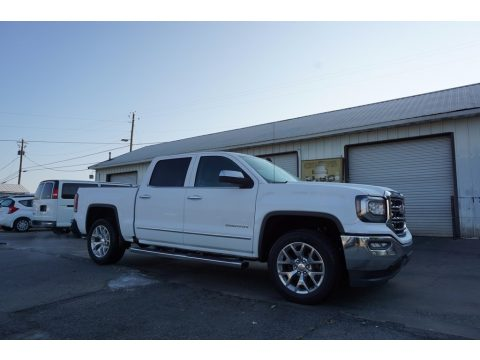 Summit White GMC Sierra 1500 SLT Crew Cab.  Click to enlarge.