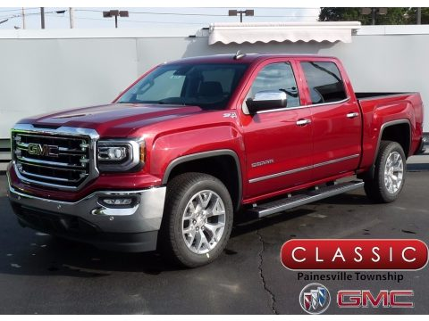 Red Quartz Tintcoat GMC Sierra 1500 SLT Crew Cab 4WD.  Click to enlarge.