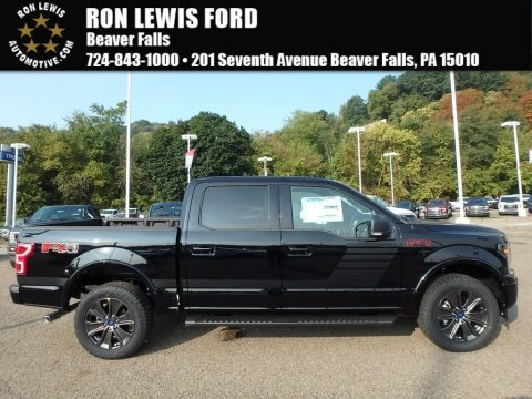 Shadow Black Ford F150 XLT SuperCrew 4x4.  Click to enlarge.
