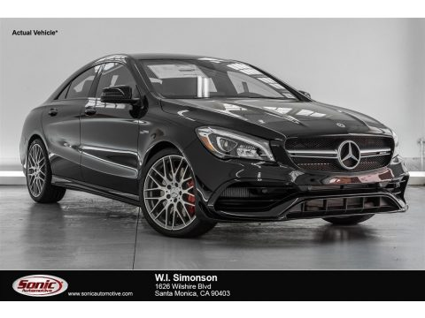 Night Black Mercedes-Benz CLA AMG 45 Coupe.  Click to enlarge.