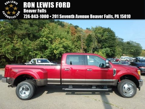 Ruby Red Ford F350 Super Duty Lariat Crew Cab 4x4.  Click to enlarge.