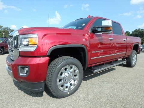 Red Quartz Tintcoat GMC Sierra 2500HD Denali Crew Cab 4x4.  Click to enlarge.