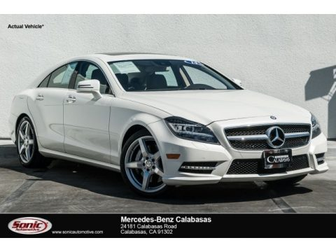 Diamond White Metallic Mercedes-Benz CLS 550 Coupe.  Click to enlarge.