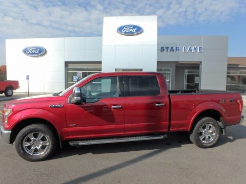 Ruby Red Metallic Ford F150 Lariat SuperCrew 4x4.  Click to enlarge.
