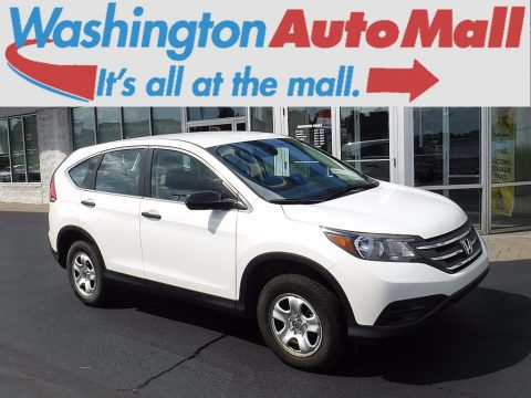 White Diamond Pearl Honda CR-V LX AWD.  Click to enlarge.