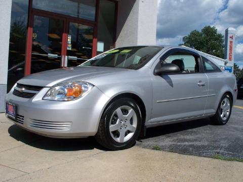 Ultra Silver Metallic 2007 Chevrolet Cobalt LS Coupe with Gray interior