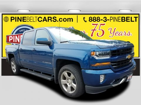 Deep Ocean Blue Metallic Chevrolet Silverado 1500 LT Crew Cab 4x4.  Click to enlarge.