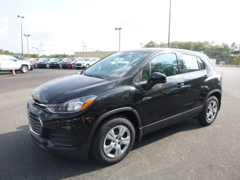 Mosaic Black Metallic Chevrolet Trax LS.  Click to enlarge.