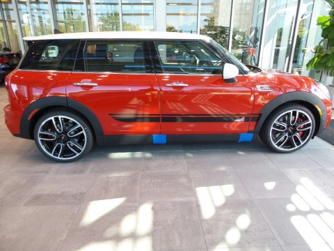 Chili Red Mini Clubman John Cooperworks ALL4.  Click to enlarge.